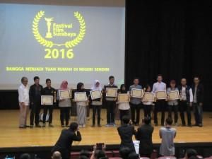 Penganugerahan Film Terbaik ke 2 dan ke 3 Festival Film Surabaya 2016