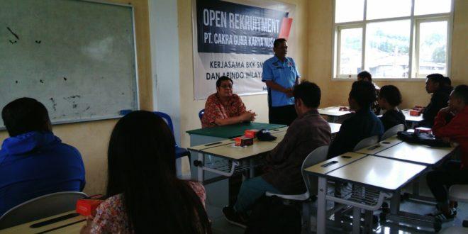Open Reqruitment PT Cakra di SMKN 3 Batu
